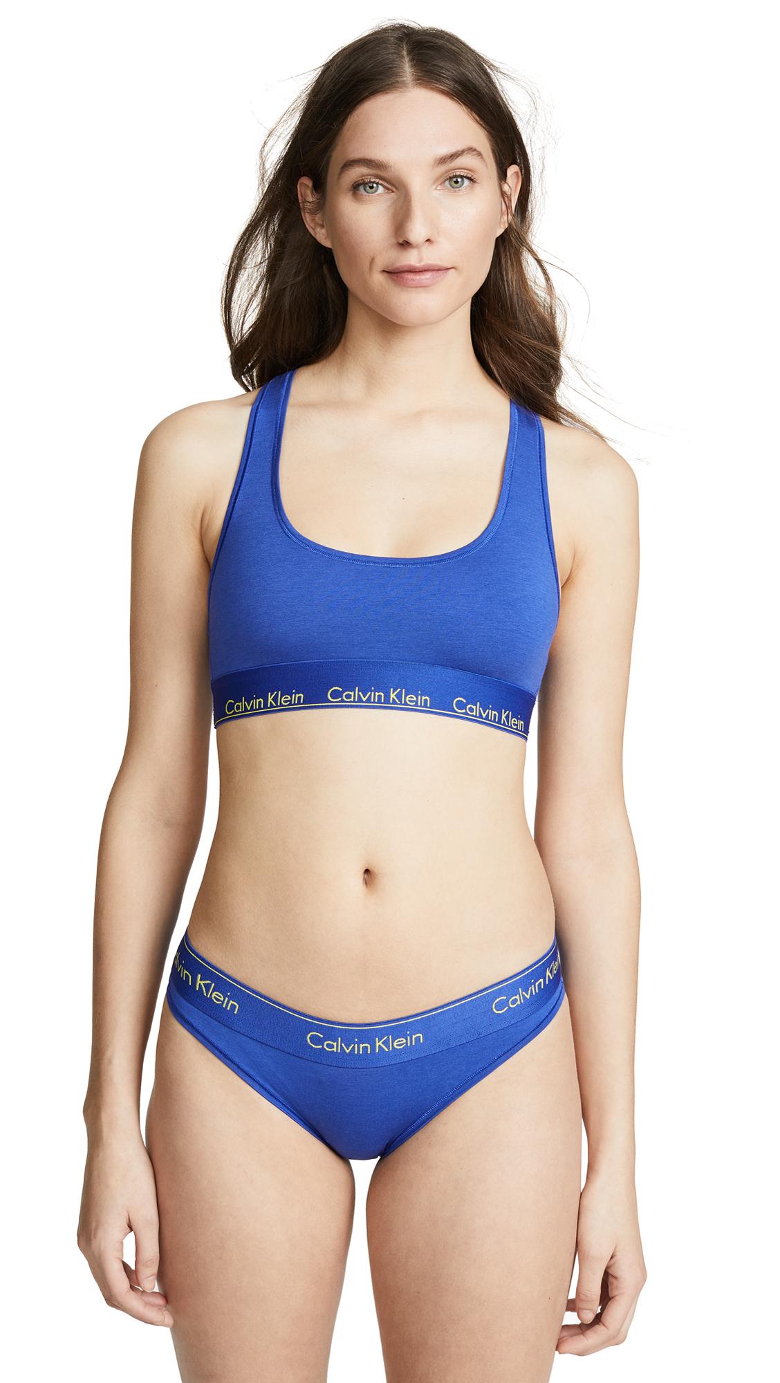40fb8b0f520cf Calvin Klein Underwear Modern Cotton Unlined Bralette In Pure Cerulean