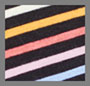 Prism Stripe Print/Black