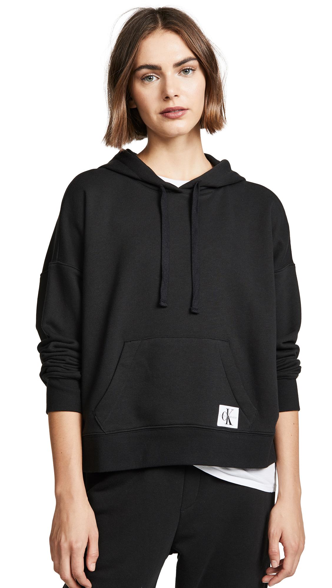 b34a6d03538d Calvin Klein Underwear Monogram Lounge Hoodie In Black