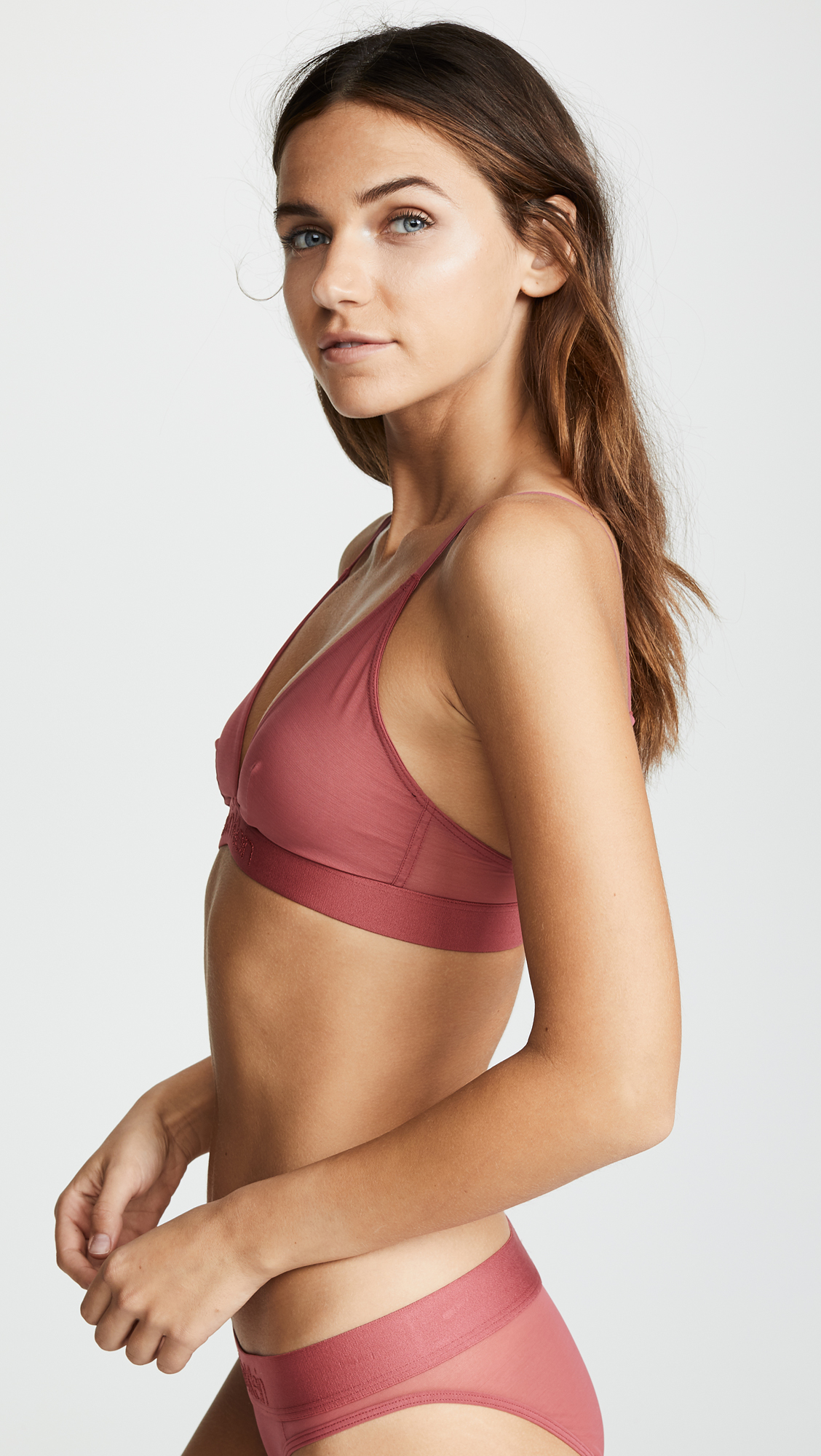 339c55b20cb Calvin Klein Underwear Tonal Logo Unlined Triangle Bra
