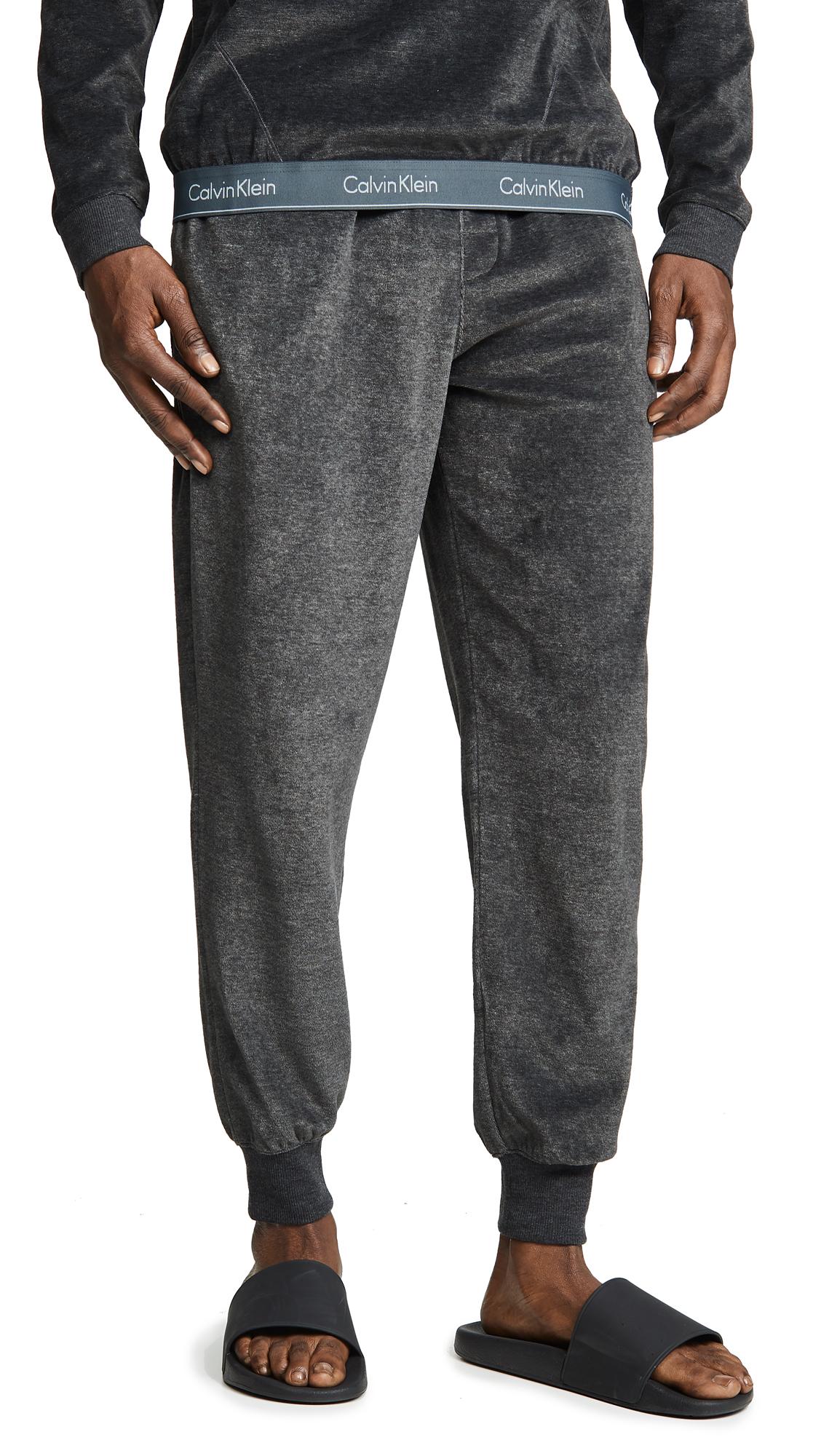 58916cc50174e1 Calvin Klein Underwear Modern Cotton Stretch Velour Jogger Pants | EAST DANE