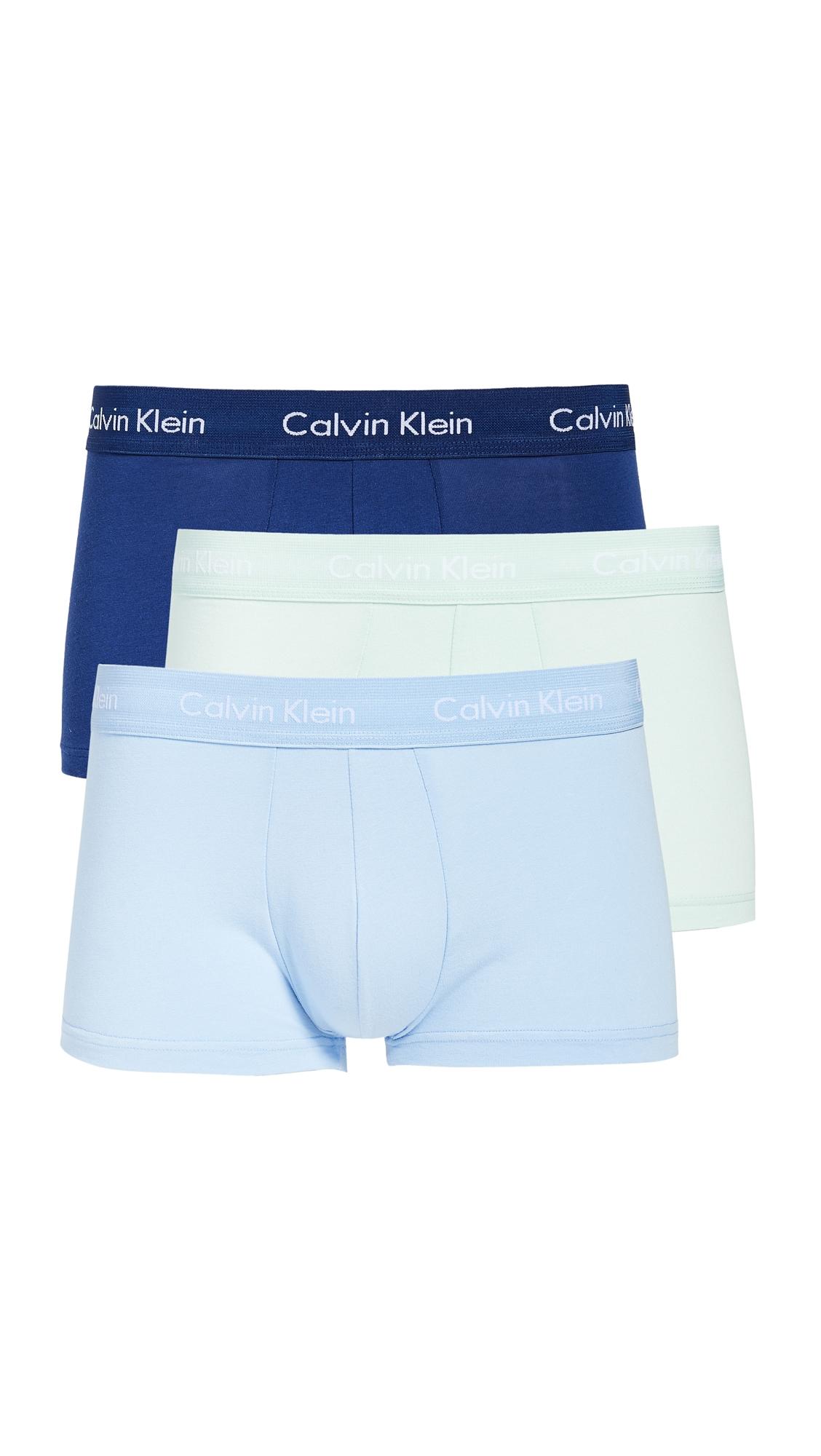 CALVIN KLEIN | Calvin Klein Underwear Cotton Stretch 3 Pack Trunks | Goxip