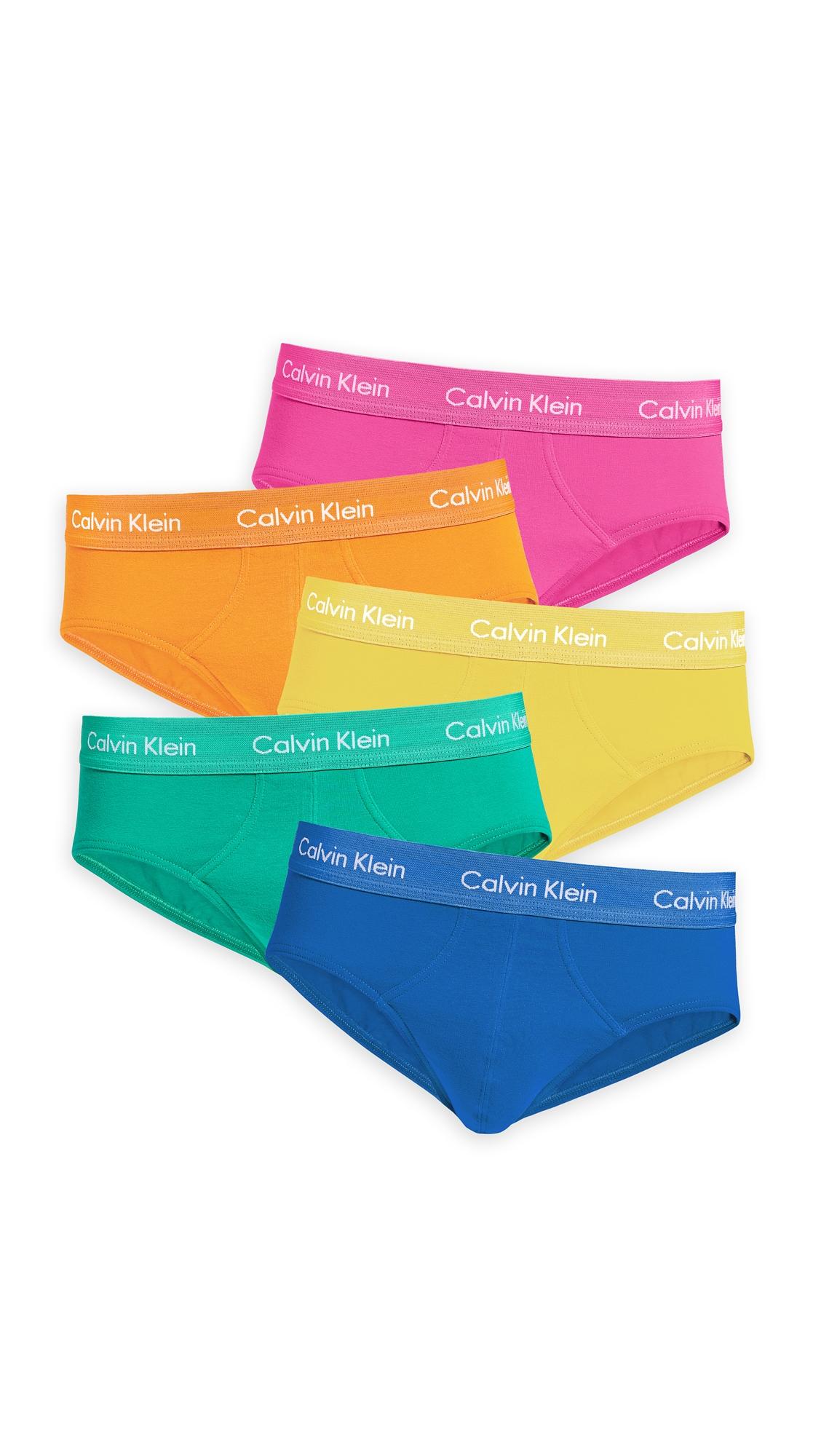 CALVIN KLEIN | Calvin Klein Underwear Cotton Stretch 5 Pack Pride Pack Hip Briefs | Goxip