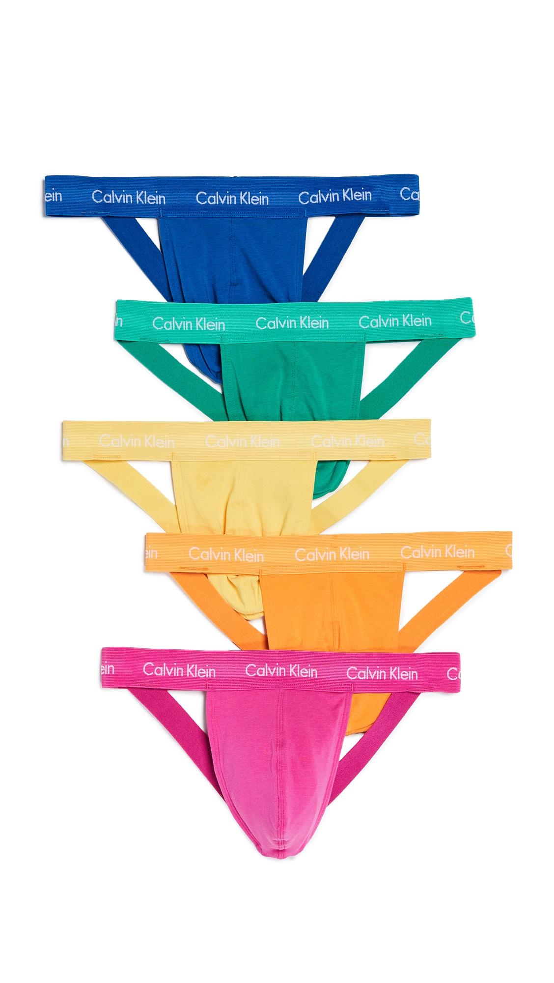 CALVIN KLEIN | Calvin Klein Underwear Cotton Stretch 5 Pack Pride Pack Jock Strap | Goxip