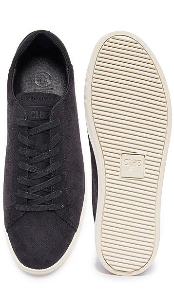 Clae Bradley Waxed Suede Sneakers