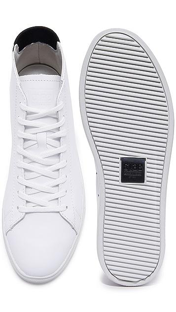 Clae Bradley Mid Leather Sneakers