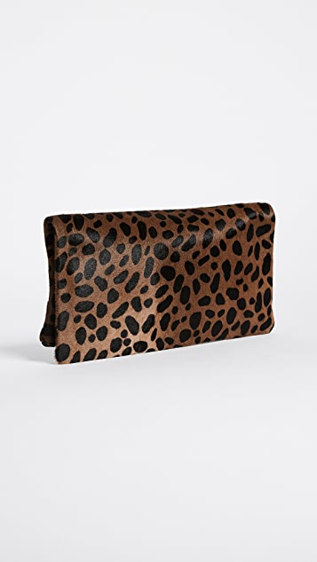 Clare V. Supreme Haircalf Fold Over Clutch