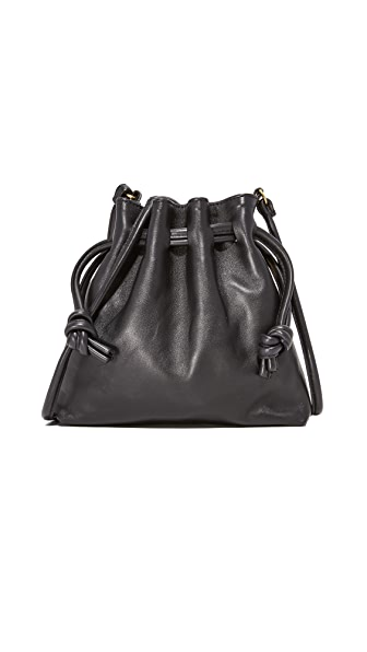 Clare V. Petit Henri Drawstring Bag - Black