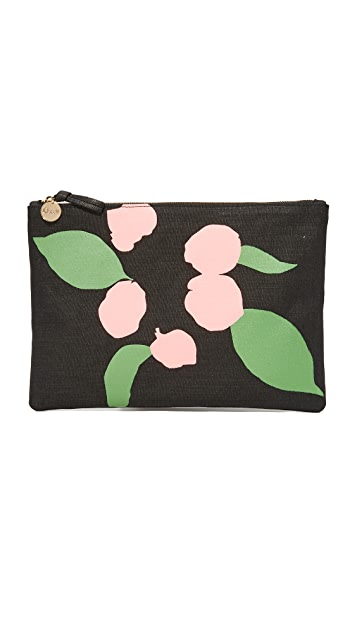 Clare V. Flat Canvas Clutch
