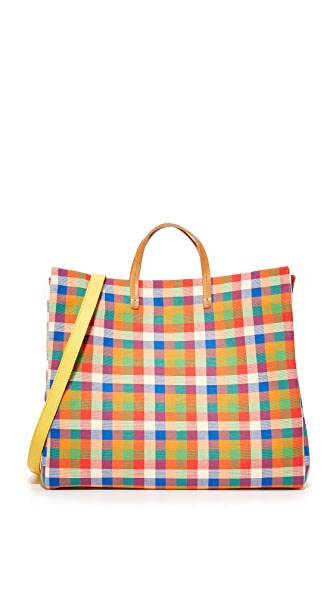 Clare V. Simple Tote - Tahitian Plaid