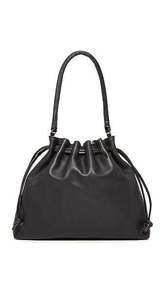 Clare V. Henri Drawstring Bag - Black