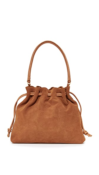 Clare V. Henri Maison Drawstring Bag In Chestnut