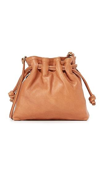 Clare V. Petit Henri Maison Drawstring Bag - Tan Nappetto