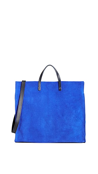 Clare V. Simple Maison Tote In Royal Blue