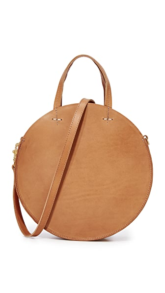 Clare V. Petite Alistair Circle Bag - Cuoio