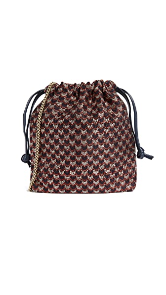 Clare V. Drawstring Pouch with Shoulder Strap In Marquis