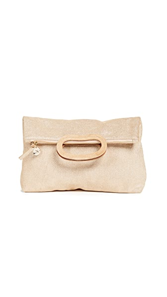 Clare V. Marcelle Clutch In Gold Shimmer