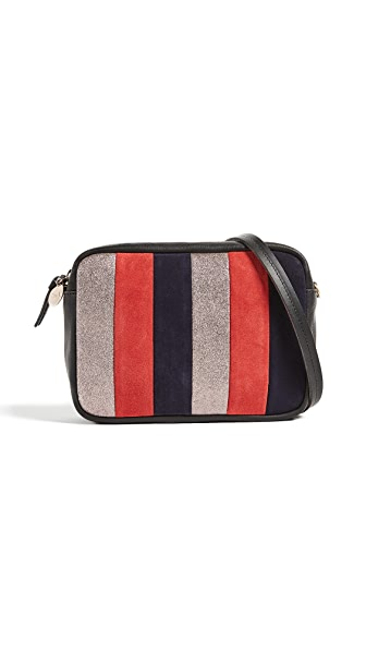 Clare V. Midi Sac Cross Body Bag In Zanzibar Stripe