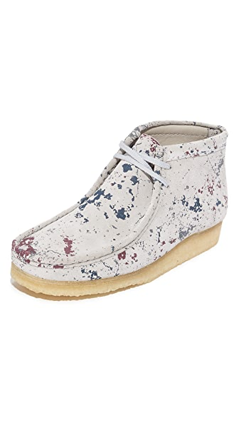 Clarks Paint Splatter Wallabee Boots