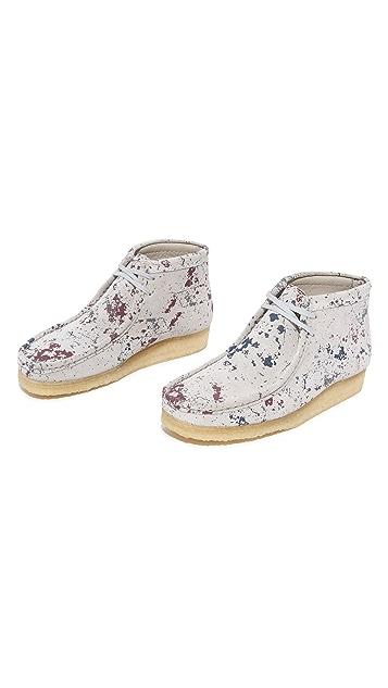 Clarks Paint Splatter Wallabee Boots
