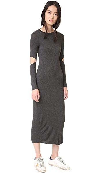 CLAYTON Sam Dress In Charcoal