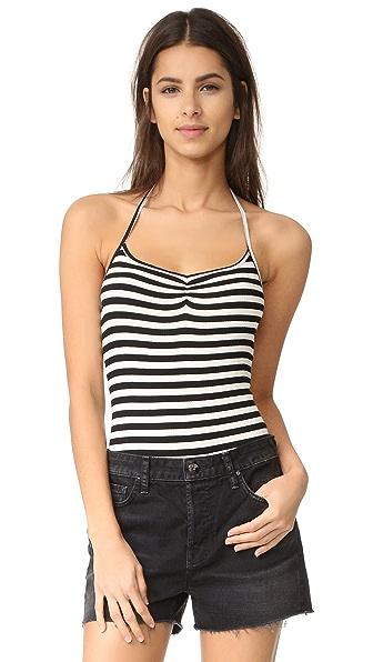 CLAYTON Capri Stripe Halter Bodysuit