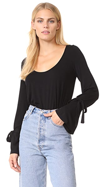 CLAYTON Reid Top - Black