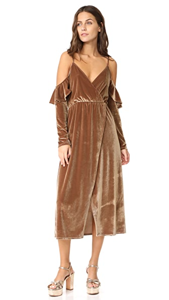 CLAYTON Velour Sandee Dress at Shopbop
