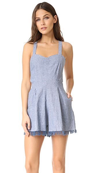 Cleobella Ramira Romper In Denim