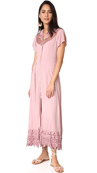 Cleobella Zahara Midid Dress In Dusty Rose