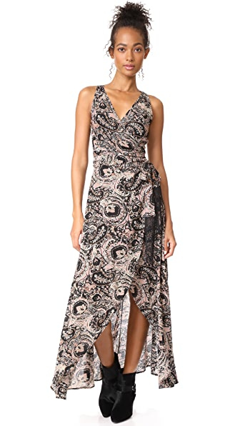 Cleobella Henna Wrap Dress In Paisley