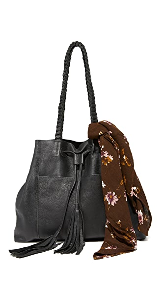 Cleobella Renzo Tote with Scarf In Black