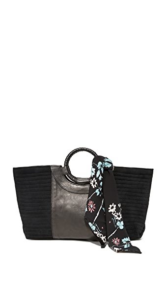 Cleobella Swanson Tote with Scarf - Black