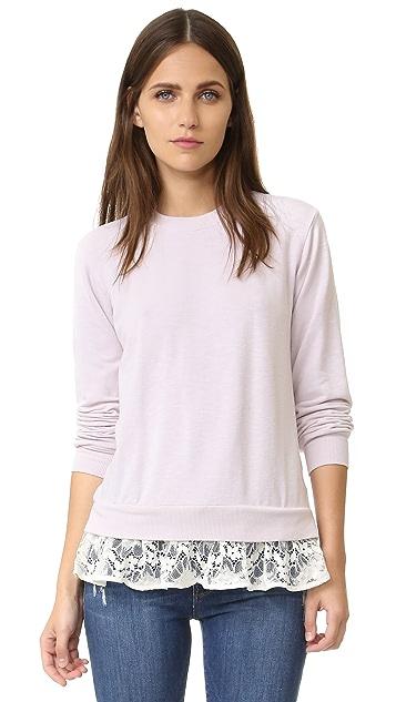 Clu Sweatshirt with Lace Ruffles