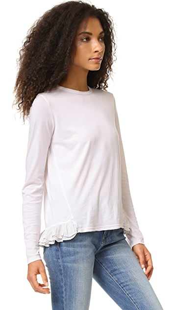 Clu Top with Contrast Silk Pleating