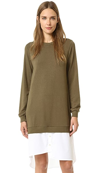 Clu Shirttail Sweatshirt Dress