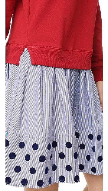 Clu Clu Too Mix Media Dress