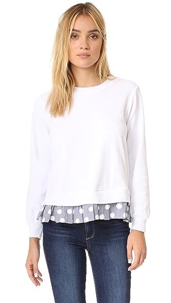 Clu Clu Too Polka Dot Ruffled Sweatshirt