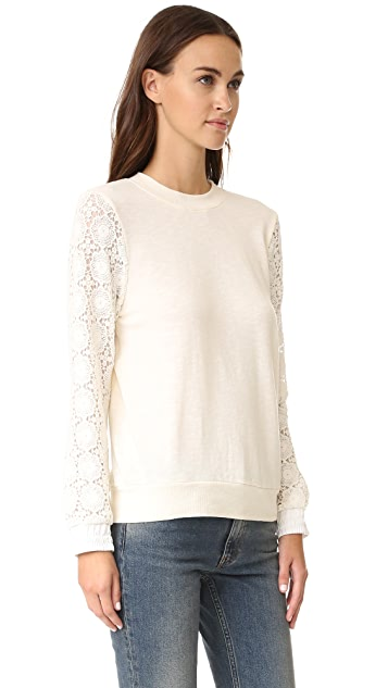 Clu Crochet Sleeved Sweatshirt