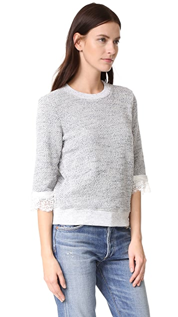 Clu Textured Sweater with Lace