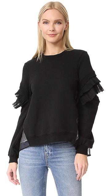 Clu Contrast Pleated Sweatshirt