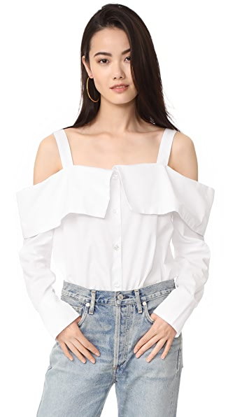 Clu Off the Shoulder Shirt - White