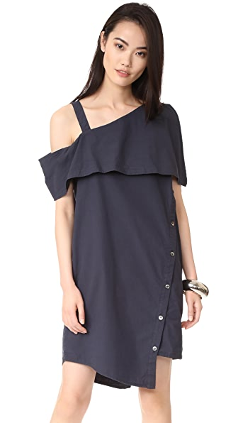 Clu Asymmetrical Off the Shoulder Dress