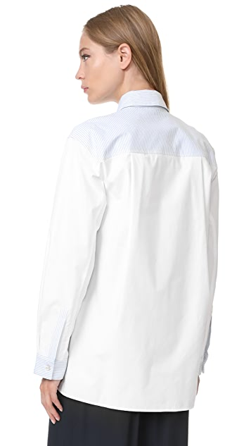 Clu Stripe Pleated Shirt
