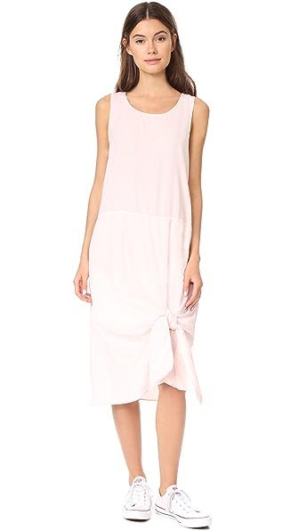 Clu Tie Hem Dress - Light Pink