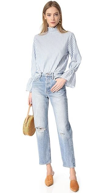 Clu Bell Sleeve Poplin Shirt