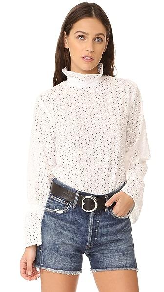 Clu Bell Sleeve Eyelet Shirt