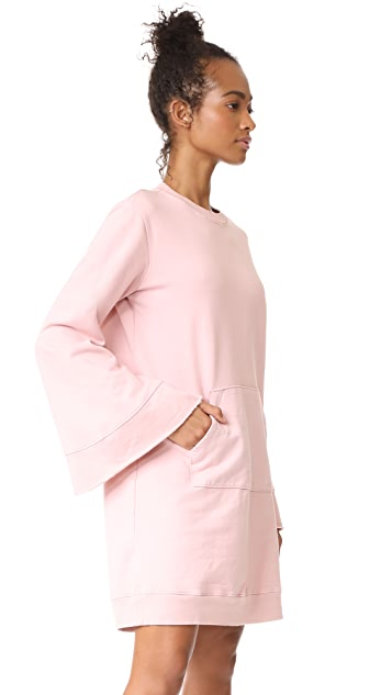Clu Clu Too Bell Sleeve Sweatshirt Dress