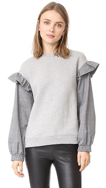 Clu Clu Too Sweatshirt with Contrast Sleeves