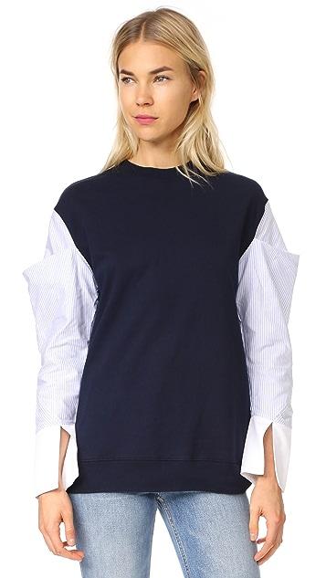Clu Contrast Sleeve Sweatshirt